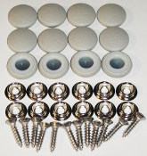 12 Pieces Stock Durasnap Buttons - Light Ash Gray