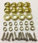 12 Pieces Stock Durasnap Buttons - Reflective Gold